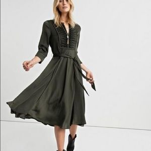 NWT Lucky Brand Satin Embroidered Dress